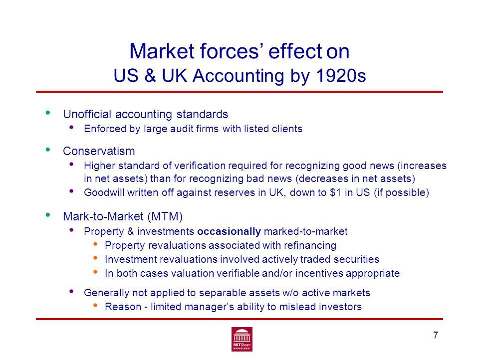 Conservatism would have helped Earlier loss recognition would have Caused financial institutions to face problem earlier Limited real losses Reduced uncertainty about bank securities' valuation 28