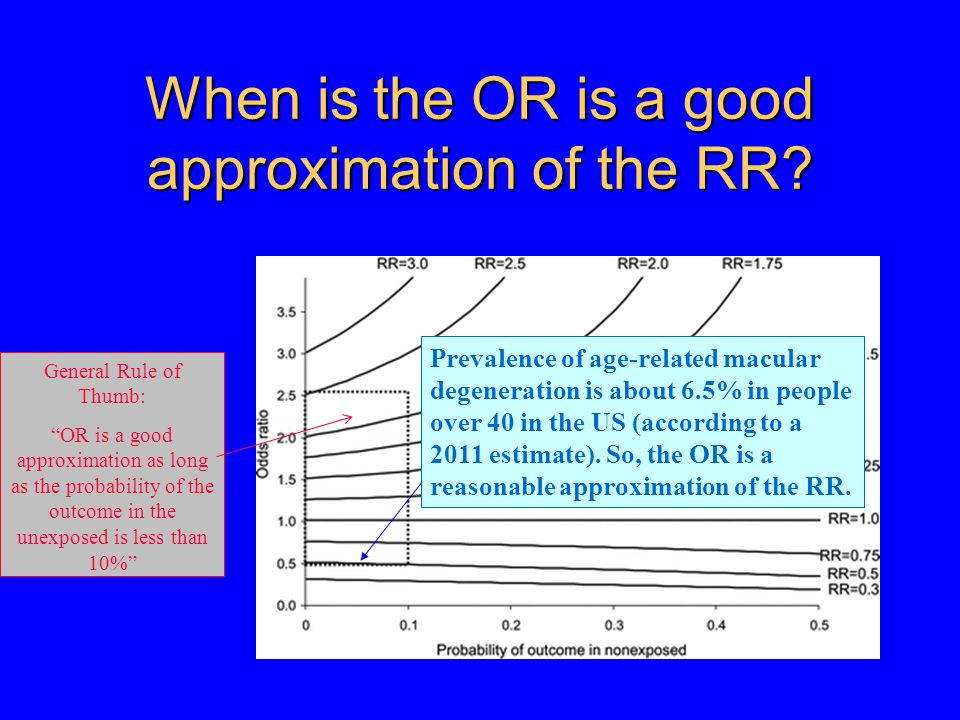 When is the OR is a good approximation of the RR.