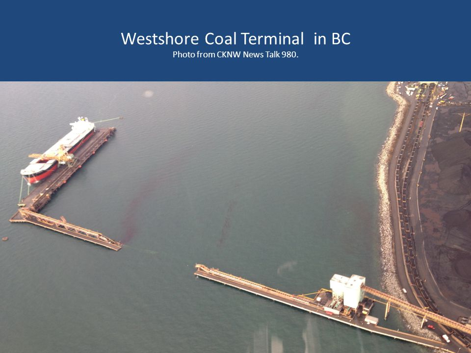Westshore Coal Terminal in BC Photo from CKNW News Talk 980.