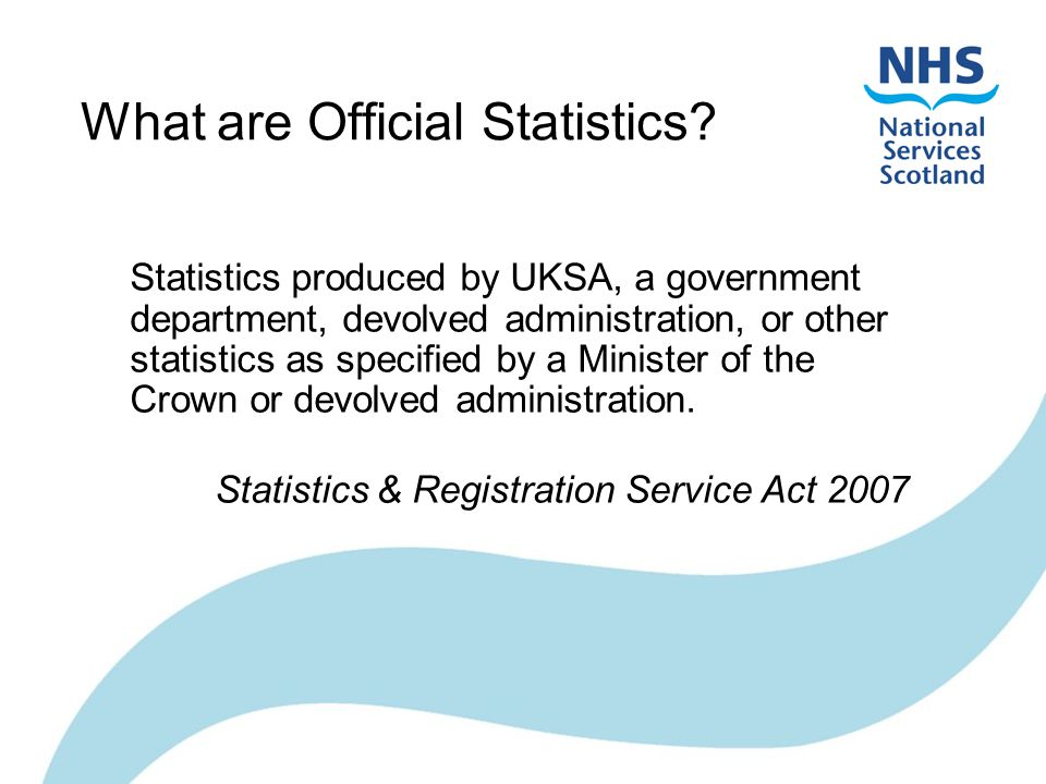 What are Official Statistics.