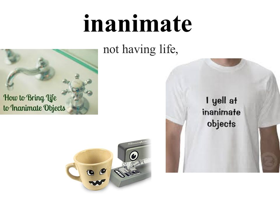 inanimate not having life,