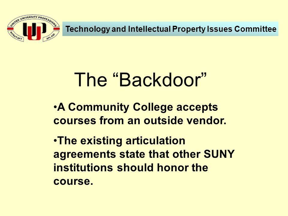 A Community College accepts courses from an outside vendor.