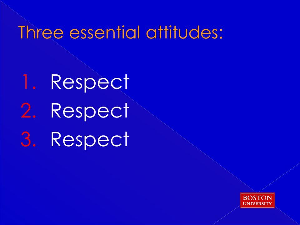 1. Respect 2. Respect 3. Respect