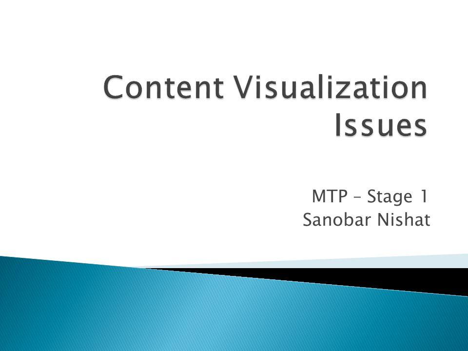 MTP – Stage 1 Sanobar Nishat