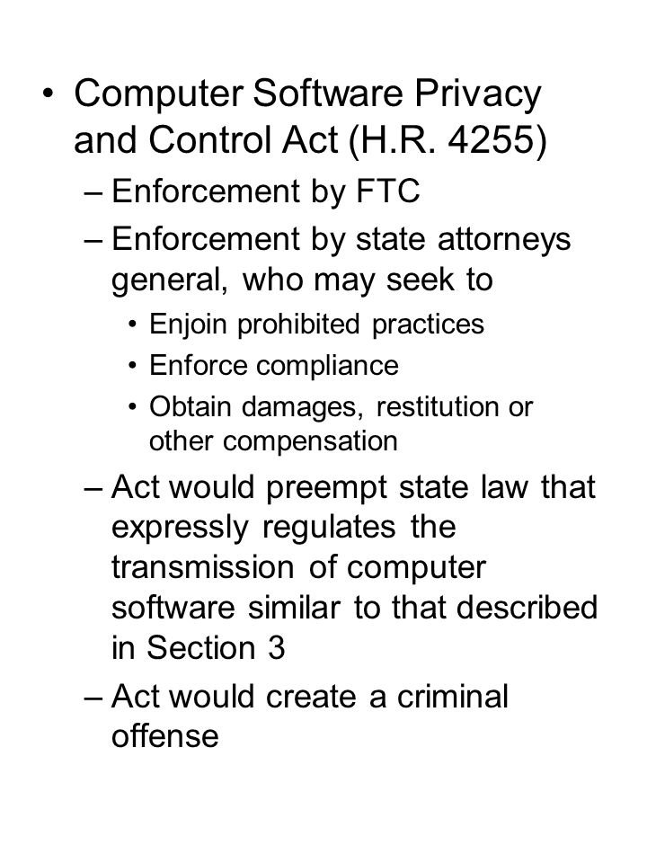 Computer Software Privacy and Control Act (H.R.