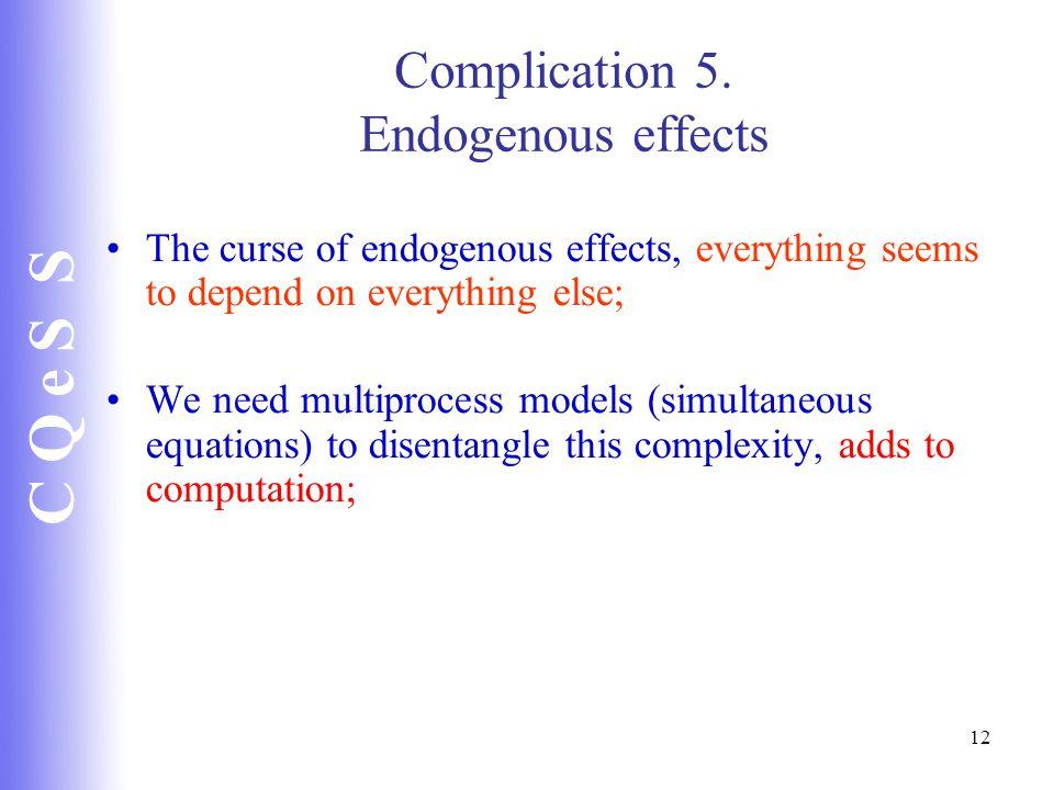 C Q e S S 12 Complication 5.