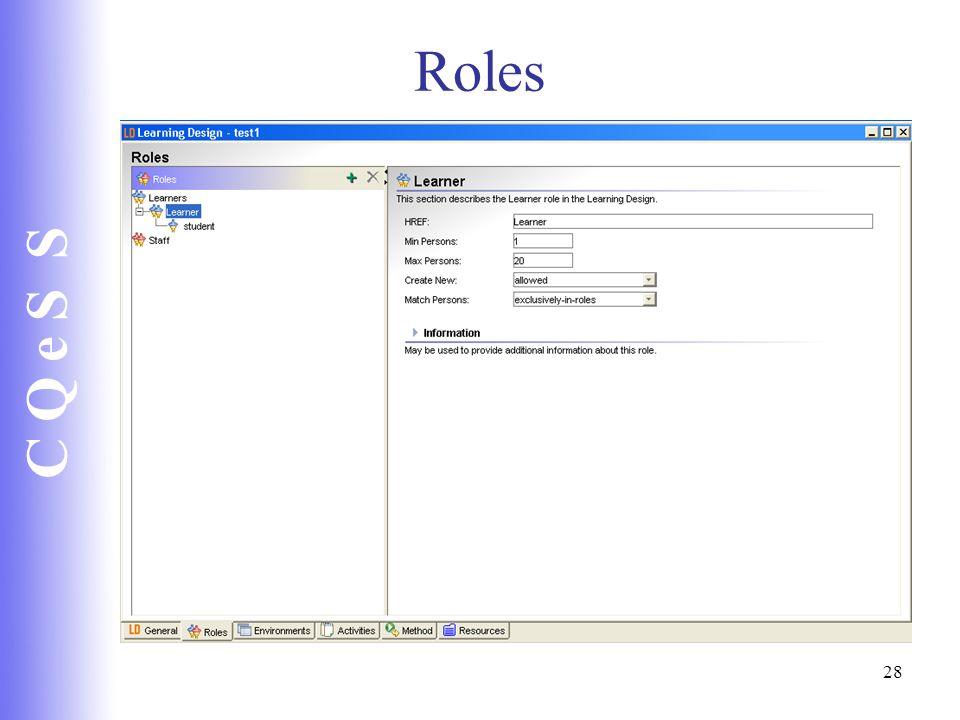 C Q e S S 28 Roles