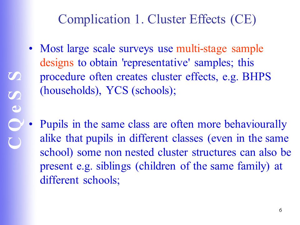 C Q e S S 6 Complication 1.
