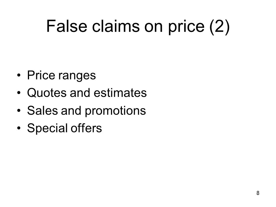 9 Unfair sales techniques (1) Debt collecting methods Delivery terms Inertia selling 'Interest free' claims Harassment and coercion