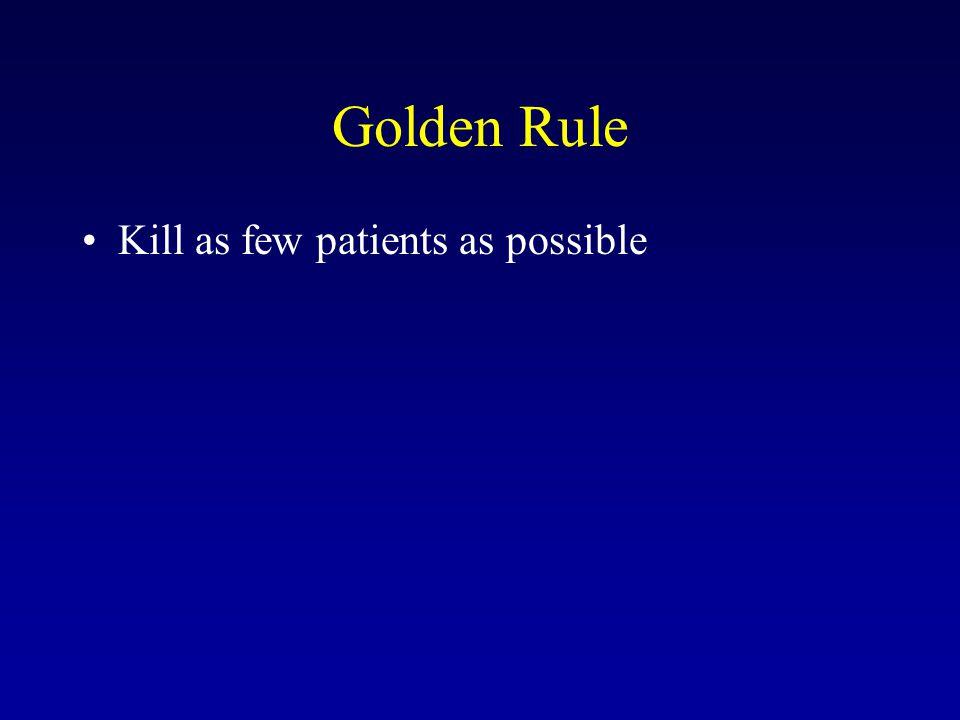 Golden Rule Kill as few patients as possible