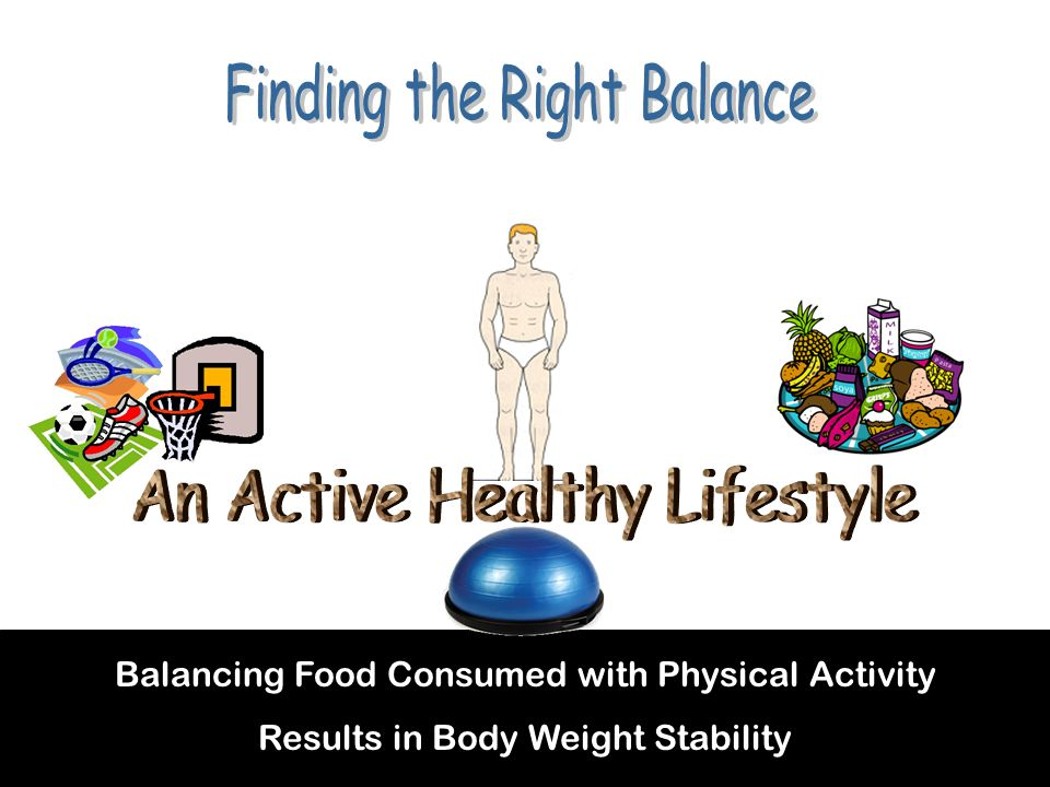 Balancing Food Consumed with Physical Activity Results in Body Weight Stability