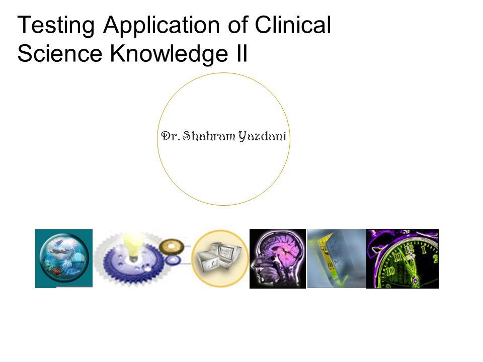Dr. Shahram Yazdani Thank you ! Any Question ?