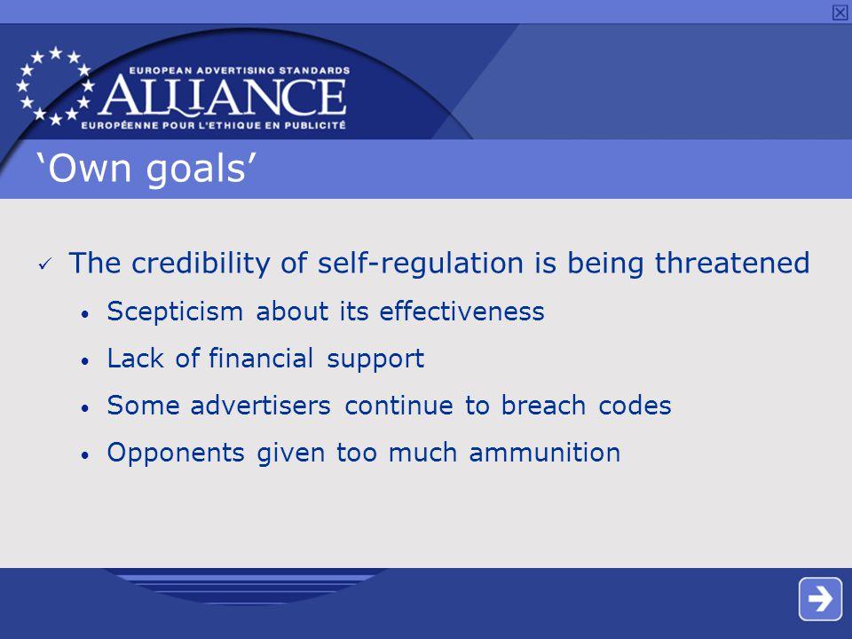 EU political context Challenge Opportunity Pressure to legislate Effective self- regulation