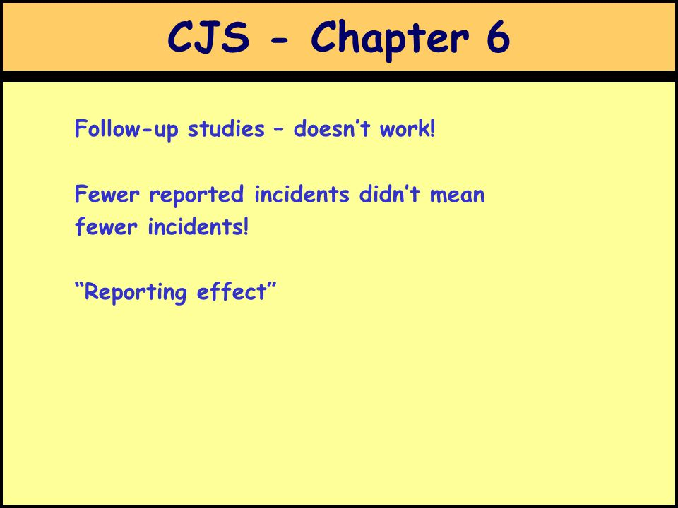 CJS - Chapter 6 Follow-up studies – doesn't work.