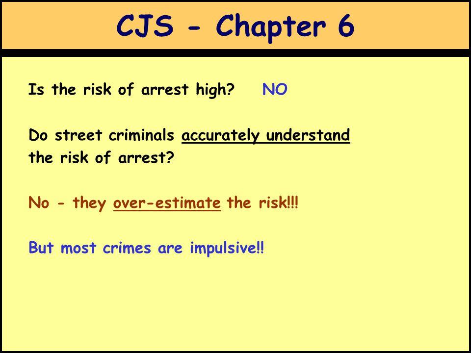 CJS - Chapter 6 Is the risk of arrest high.
