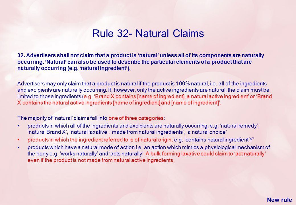 Rule 32- Natural Claims 32.