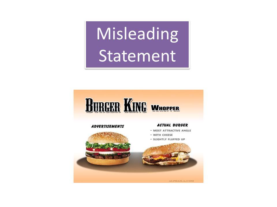Misleading Statement