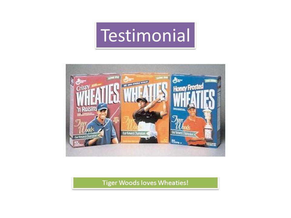 Testimonial Tiger Woods loves Wheaties!