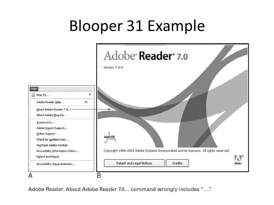 Blooper 31 Example