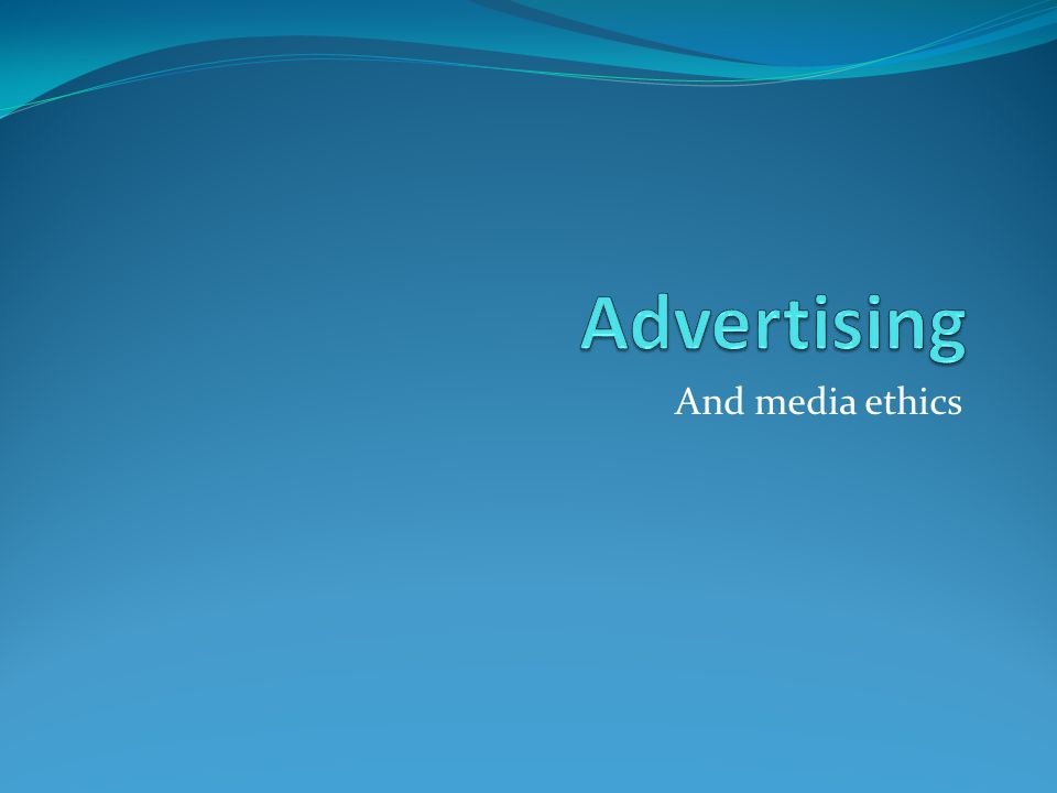 And media ethics