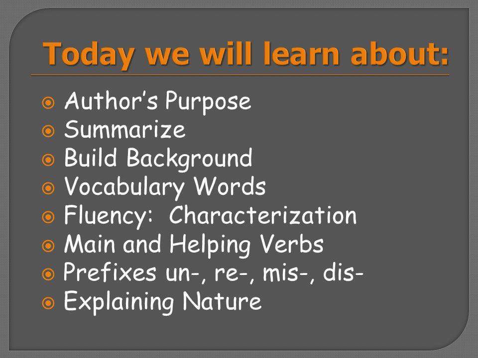 Grammar: Main and Helping Verbs