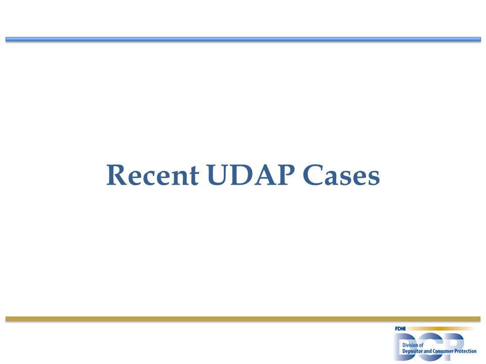 Recent UDAP Cases