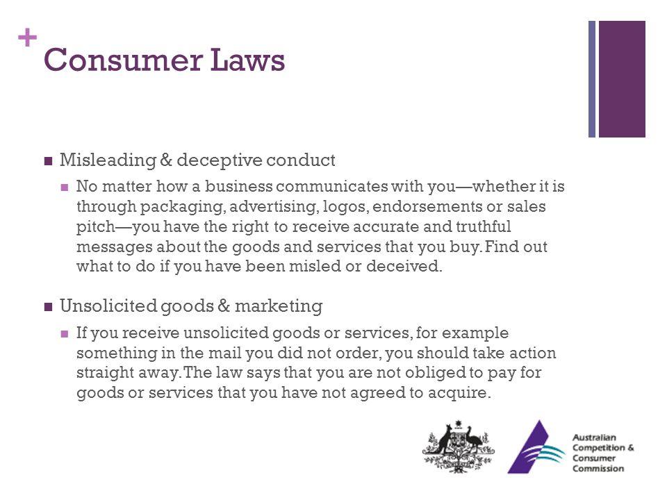+ Consumer Laws cont.