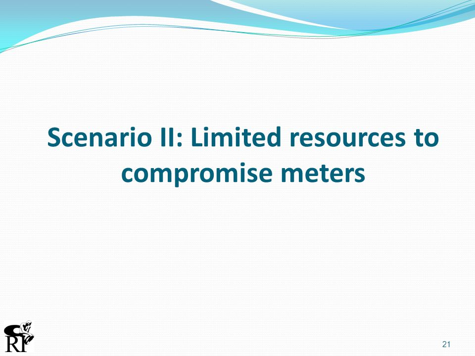 Scenario II: Limited resources to compromise meters 21
