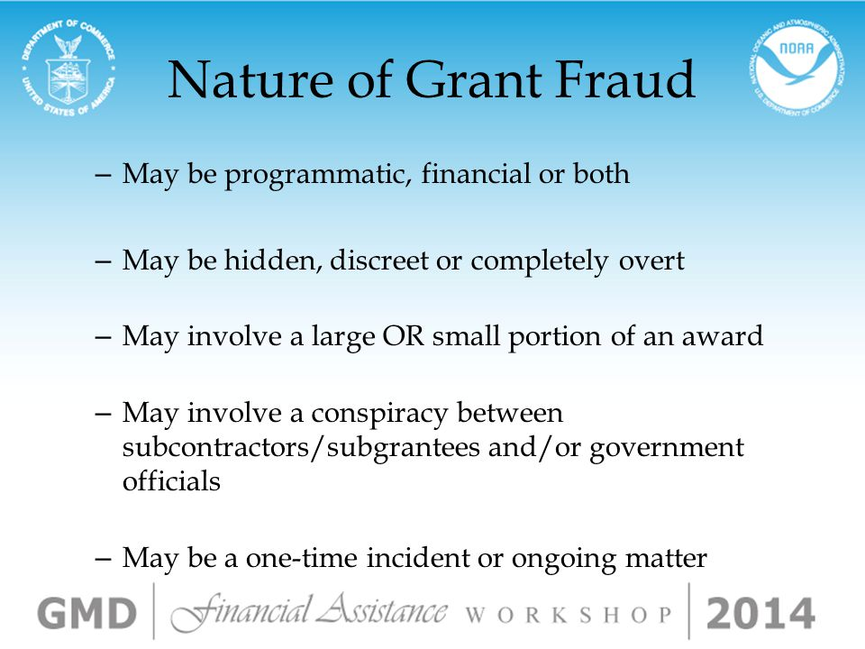 What is Grant Fraud.