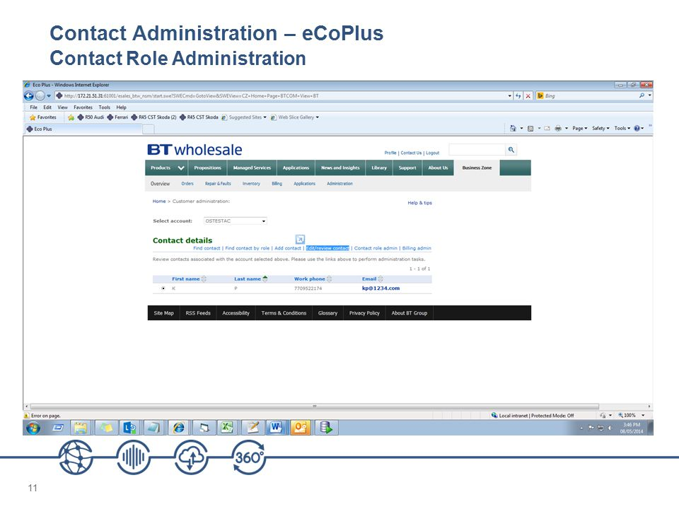 11 Contact Administration – eCoPlus C ontact Role Administration