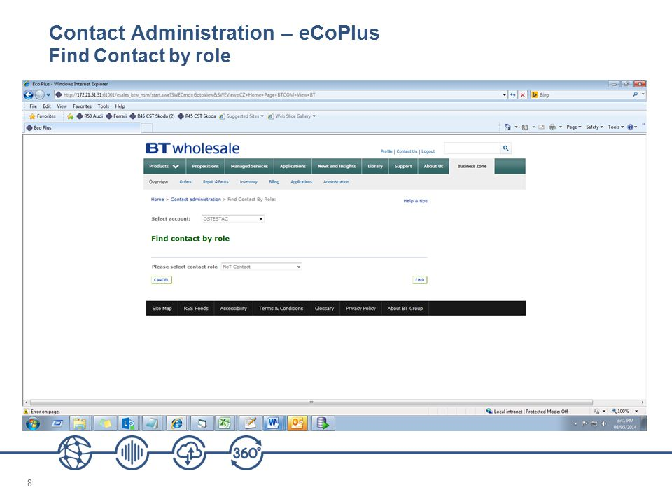 9 Contact Administration – eCoPlus C ontact Role Administration