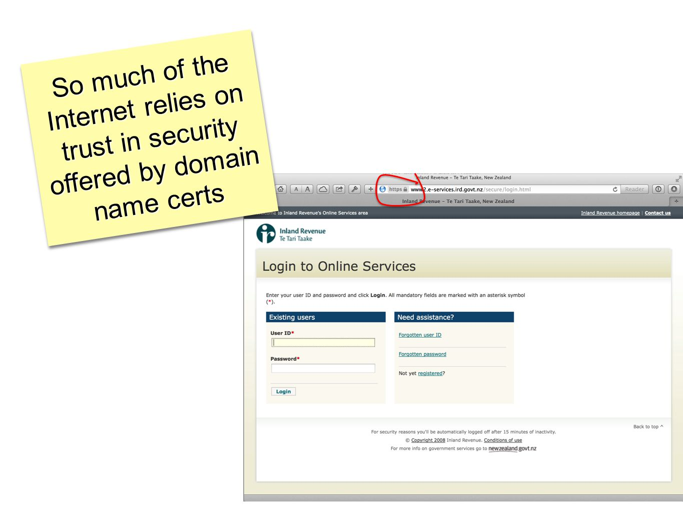 So much of the Internet relies on trust in security offered by domain name certs