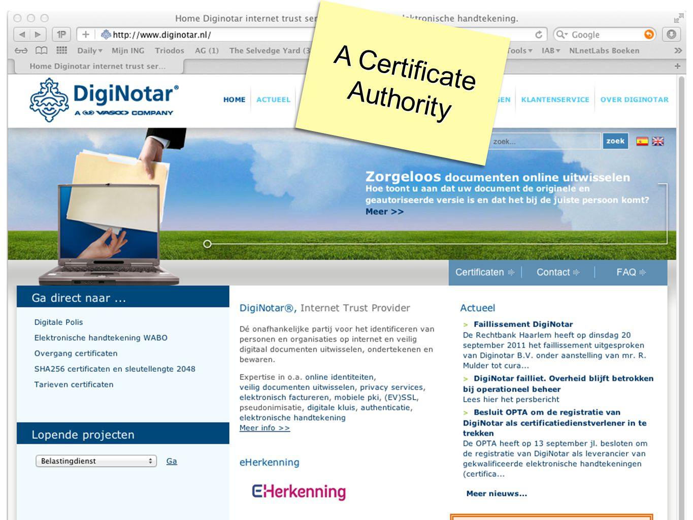 A Certificate Authority