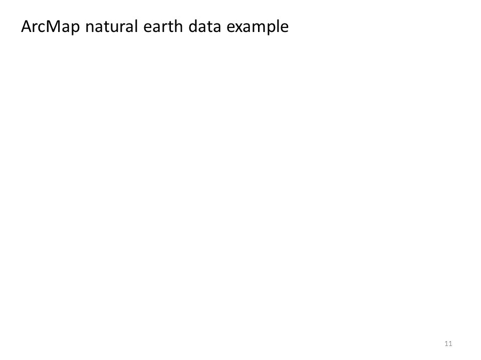 11 ArcMap natural earth data example
