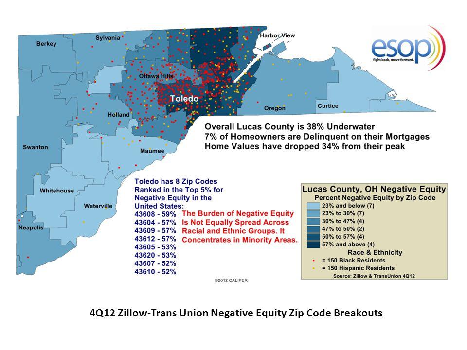 4Q12 Zillow-Trans Union Negative Equity Zip Code Breakouts