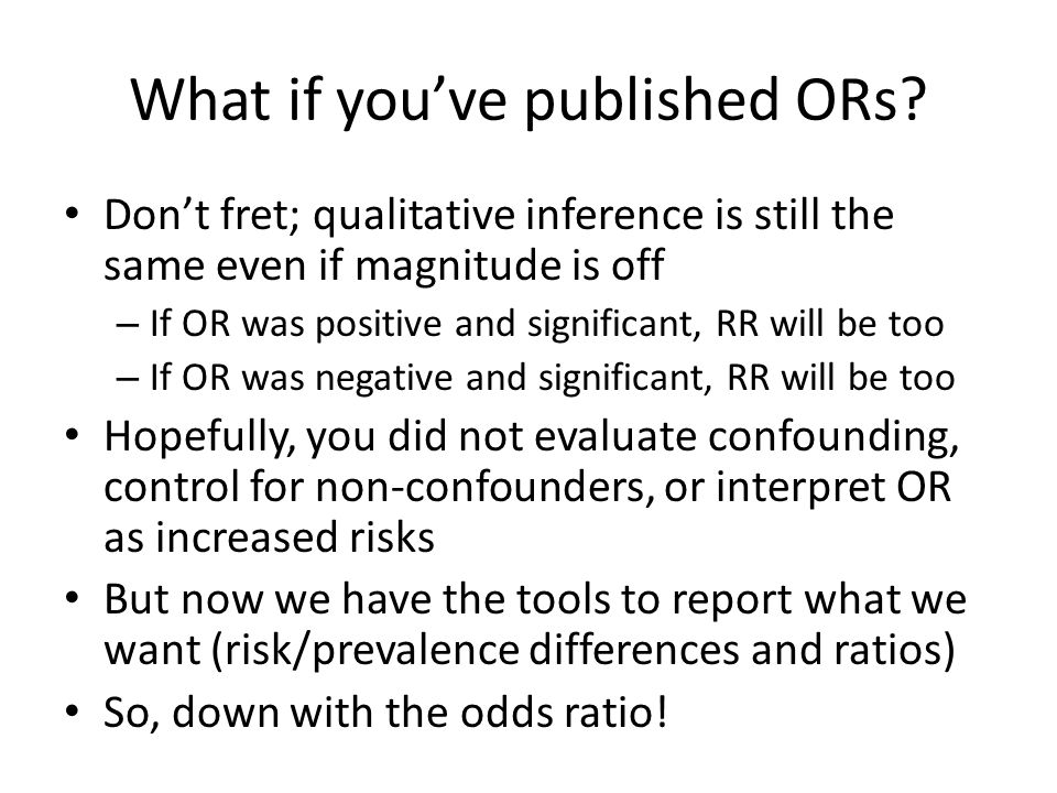 What if you've published ORs.