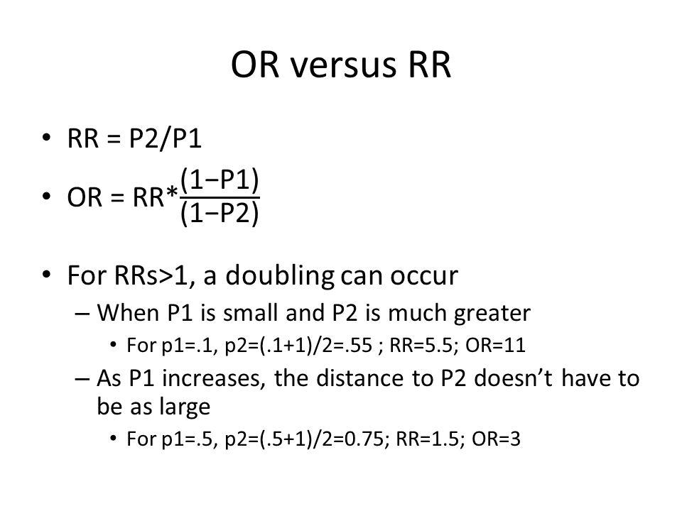OR versus RR