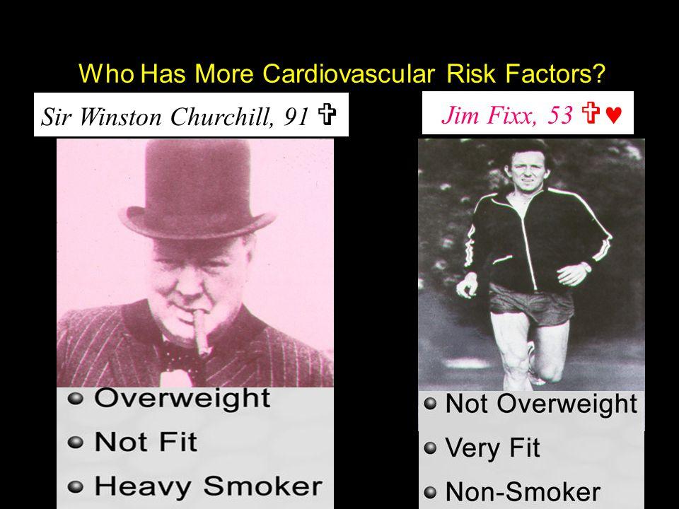 Sir Winston Churchill, 91 Sir Winston Churchill, 91  Jim Fixx, 53  Jim Fixx, 53  Who Has More Cardiovascular Risk Factors