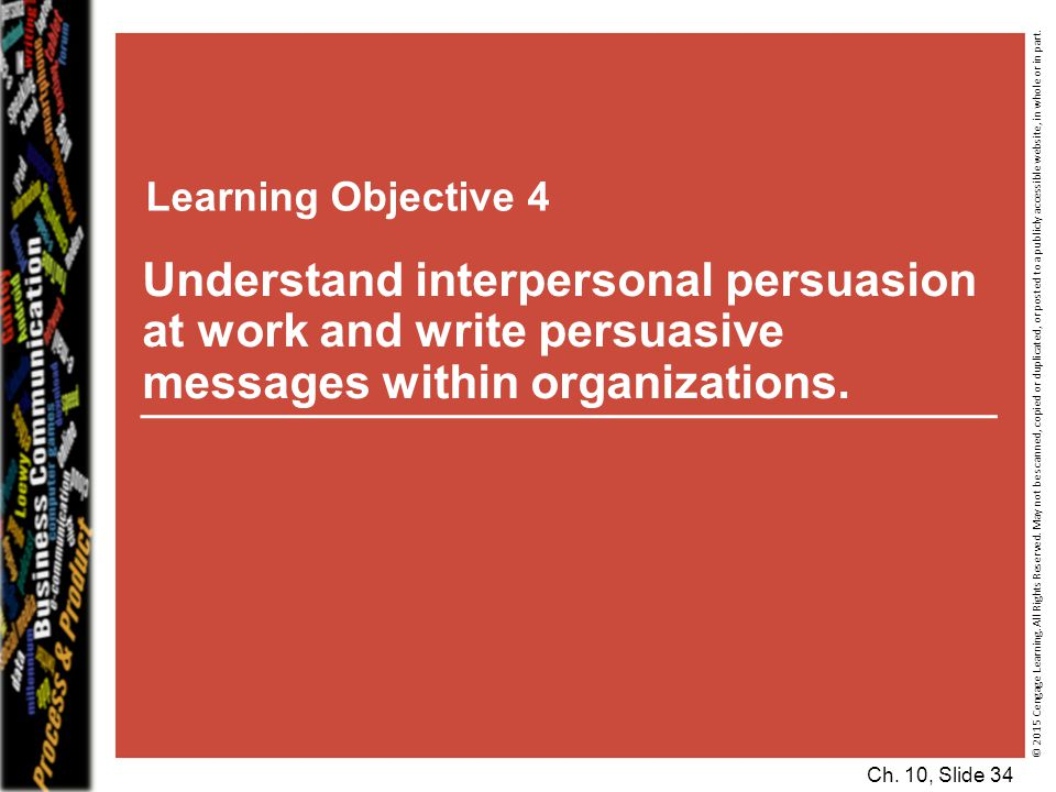 Learning Objective 4 © 2015 Cengage Learning.All Rights Reserved.