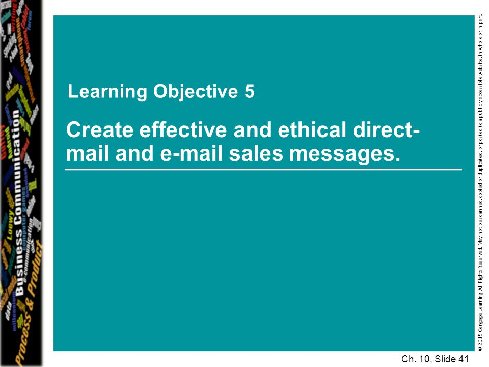 Learning Objective 5 © 2015 Cengage Learning.All Rights Reserved.