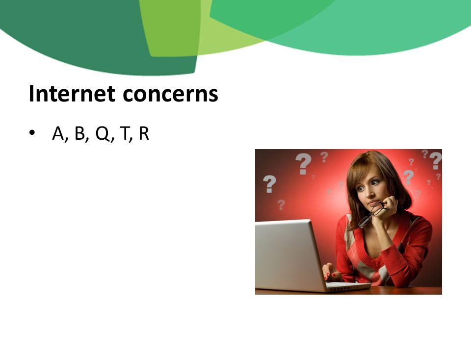 A, B, Q, T, R Internet concerns