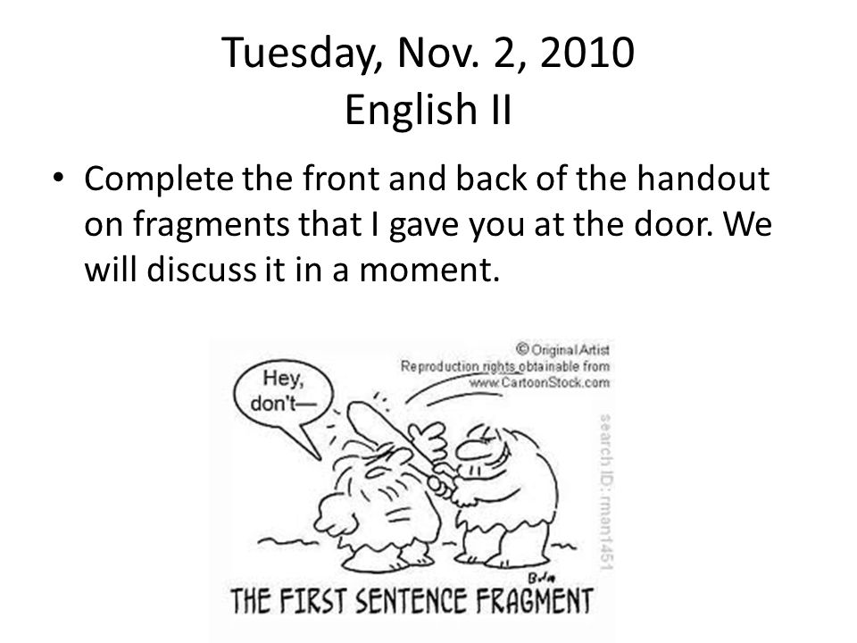 Tuesday, Nov.2, 2010 English I PreAP Read the passage and answer questions 16- 18.