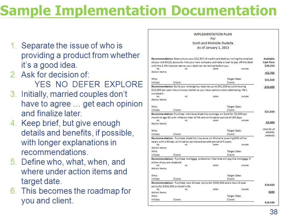 Sample Implementation Documentation 38 1.Separate the issue of who is providing a product from whether it's a good idea.