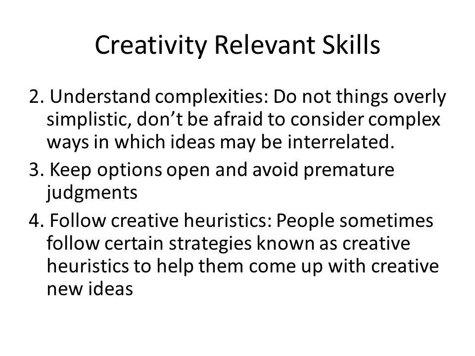Creativity Relevant Skills 2.