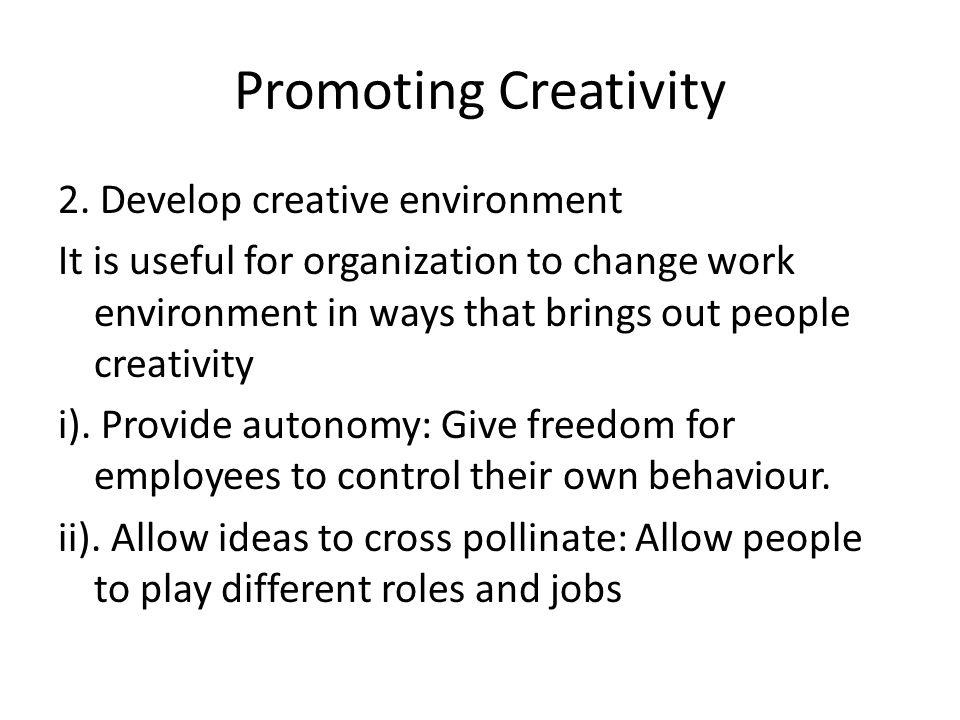 Promoting Creativity 2.