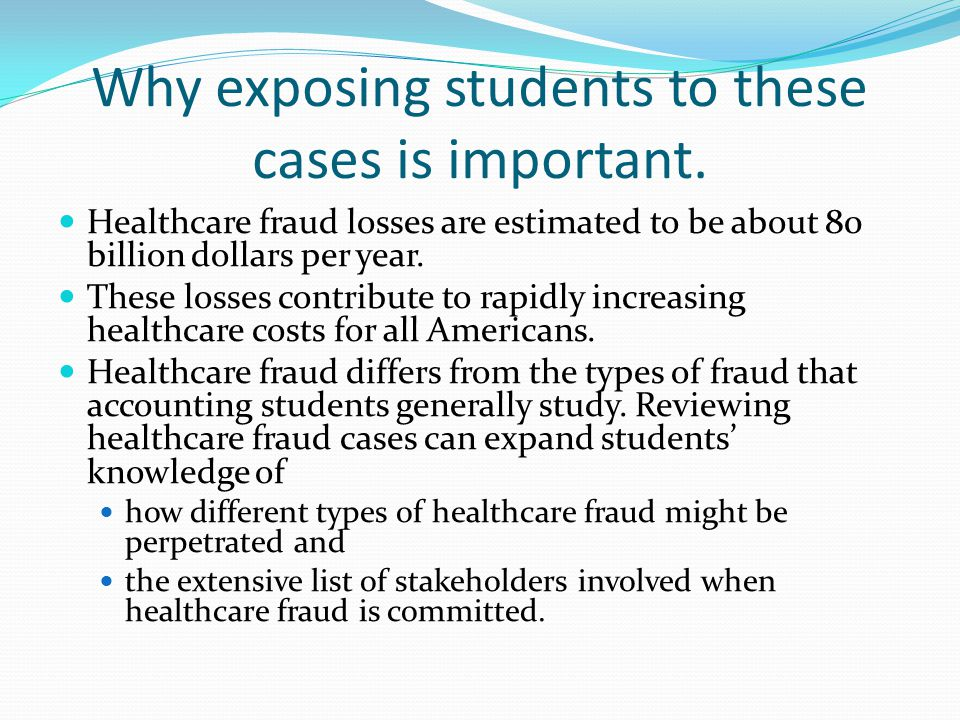Suggested Classroom Use Review cases and discuss how the frauds might be perpetrated and/or discovered.