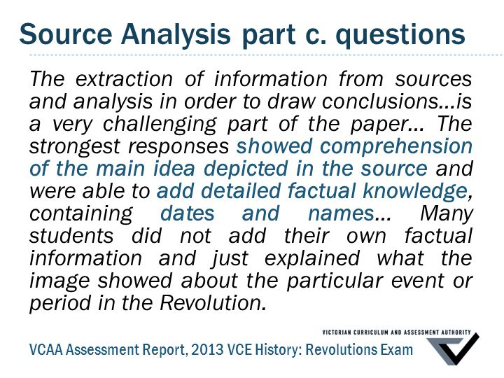 Source Analysis part c.