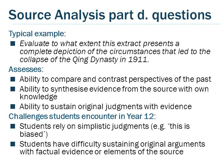 Source Analysis part d.