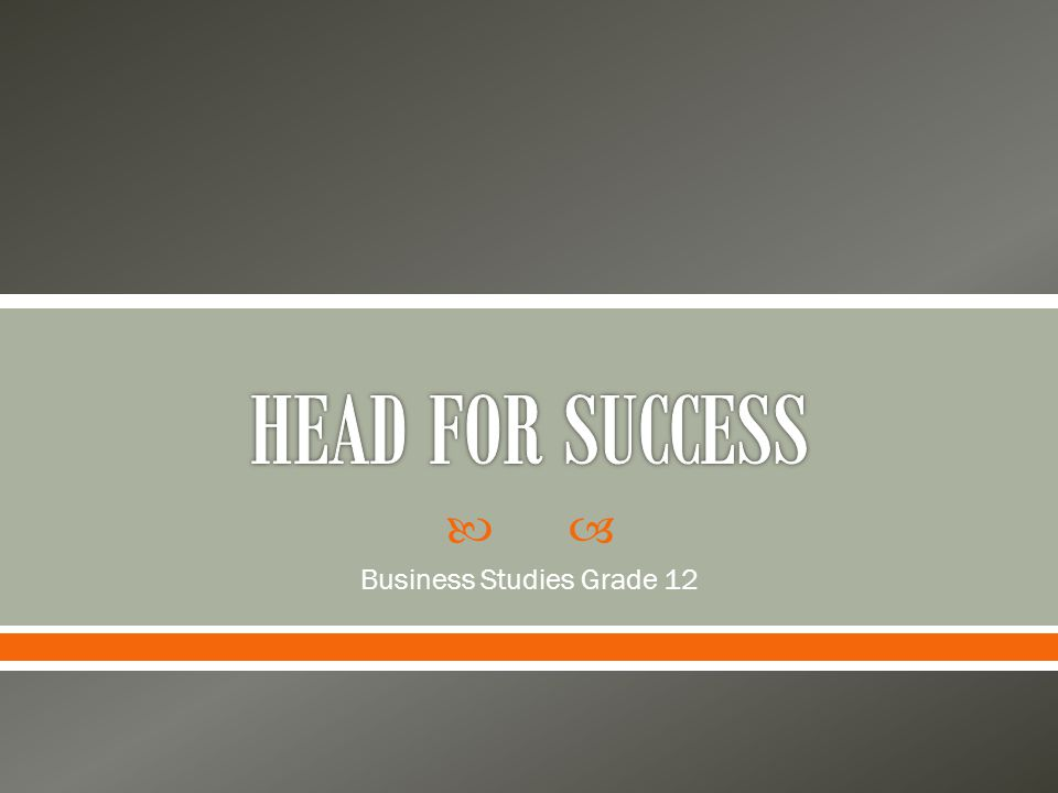  Business Studies Grade 12