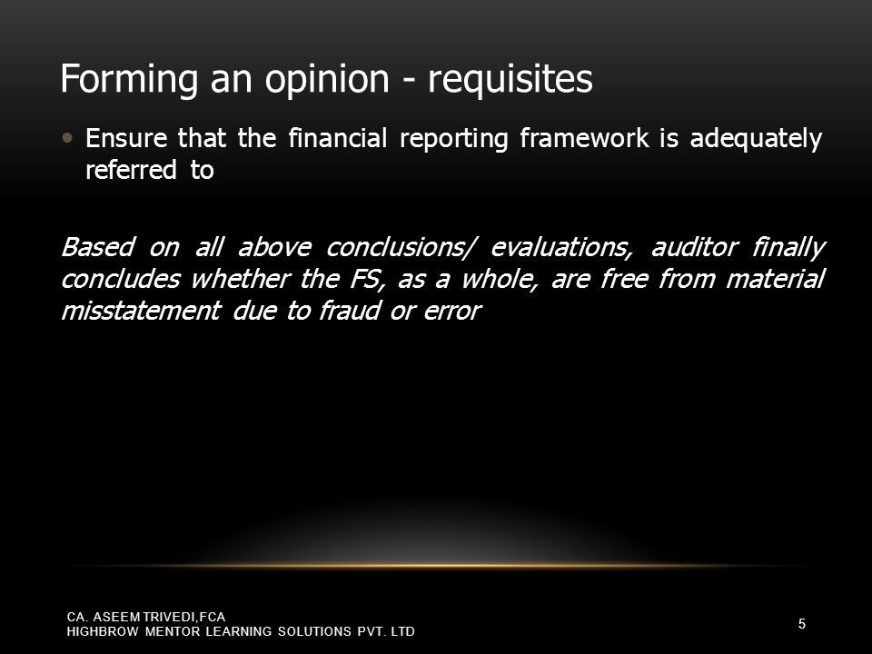 CAN AUDITOR GIVE UNMODIFIED OPINION ON A COMPONENT WHILE GIVING ADVERSE/ DISCLAIMER OF OPINION ON THE FS.